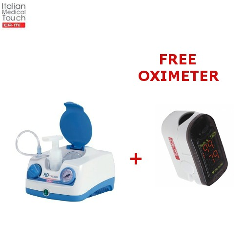 Compressor Nebuliser CA-MI Clineb and FREE Finger Pulse Oximeter