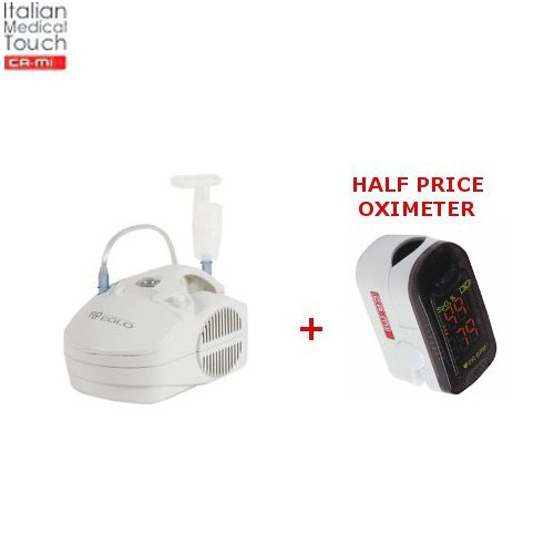 Home Nebuliser CA-MI Eolo and HALF PRICE Finger Pulse Oximeter CA-MI O2Easy